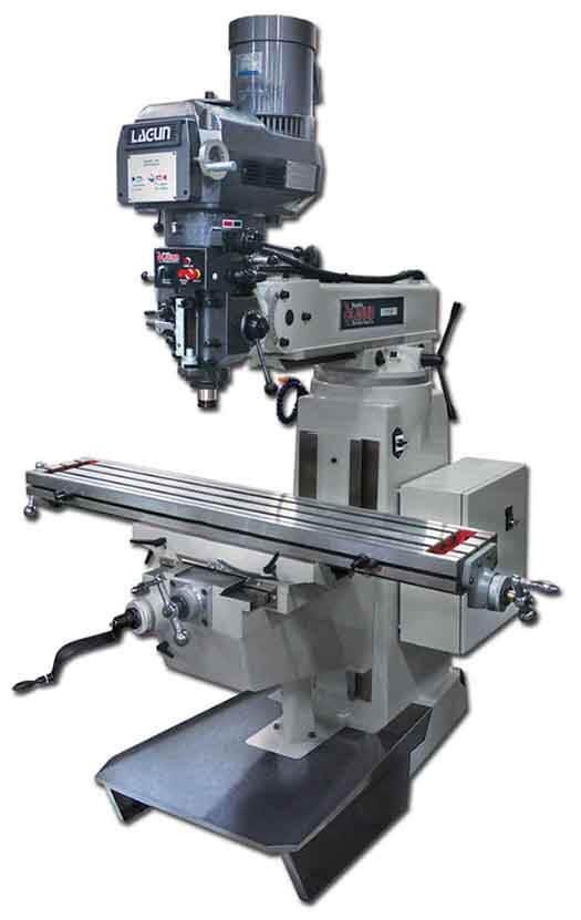 Visual of whole Lagun Vertical Knee Mill Machine