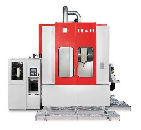 h & h qube machining center machine photo